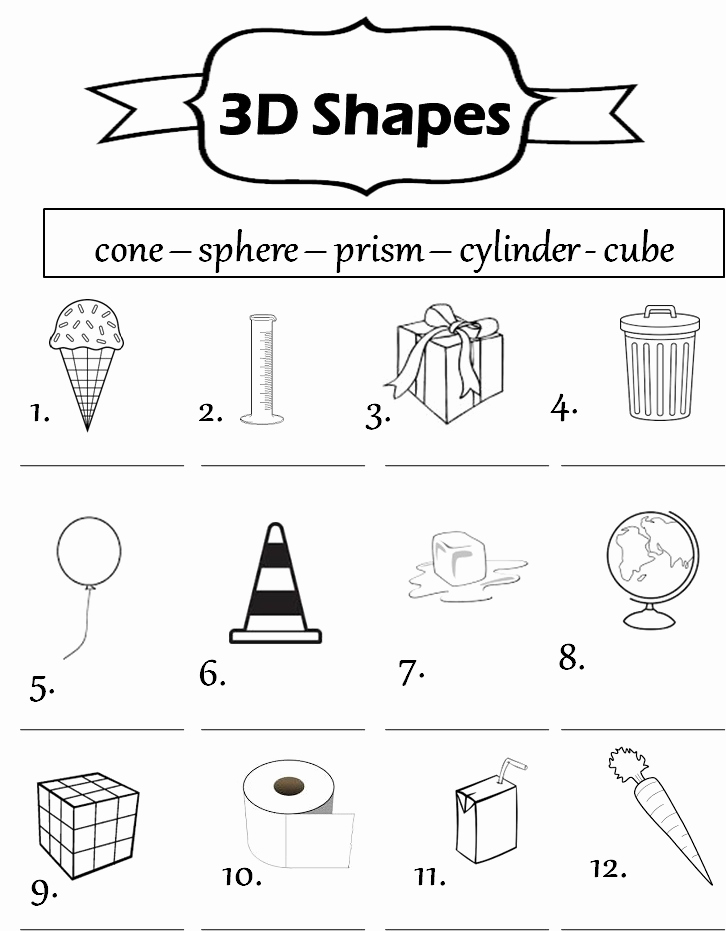 3d Shapes Worksheets 2nd Grade Lovely solid Shapes Worksheet for 2nd Grade Printable Shapes 2d