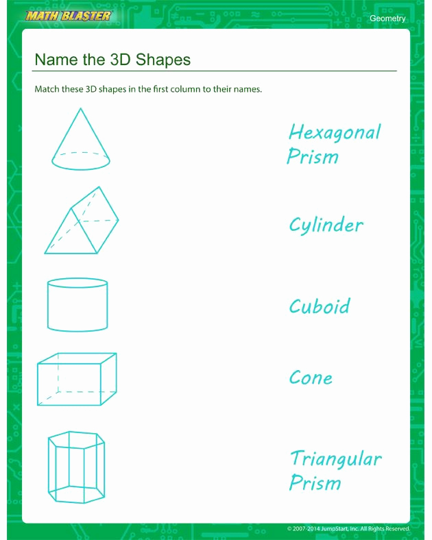 3d Shapes Worksheets 2nd Grade Unique Name the 3d Shapes Worksheets – Free Geometry Printables