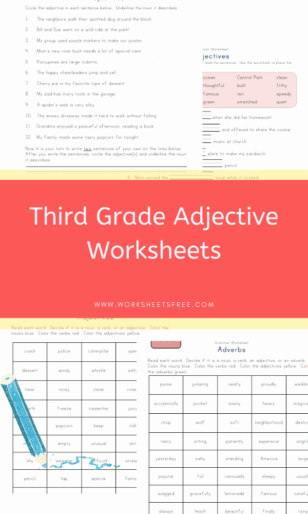 3rd Grade Adjectives Worksheets Best Of Third Grade Adjective Worksheets