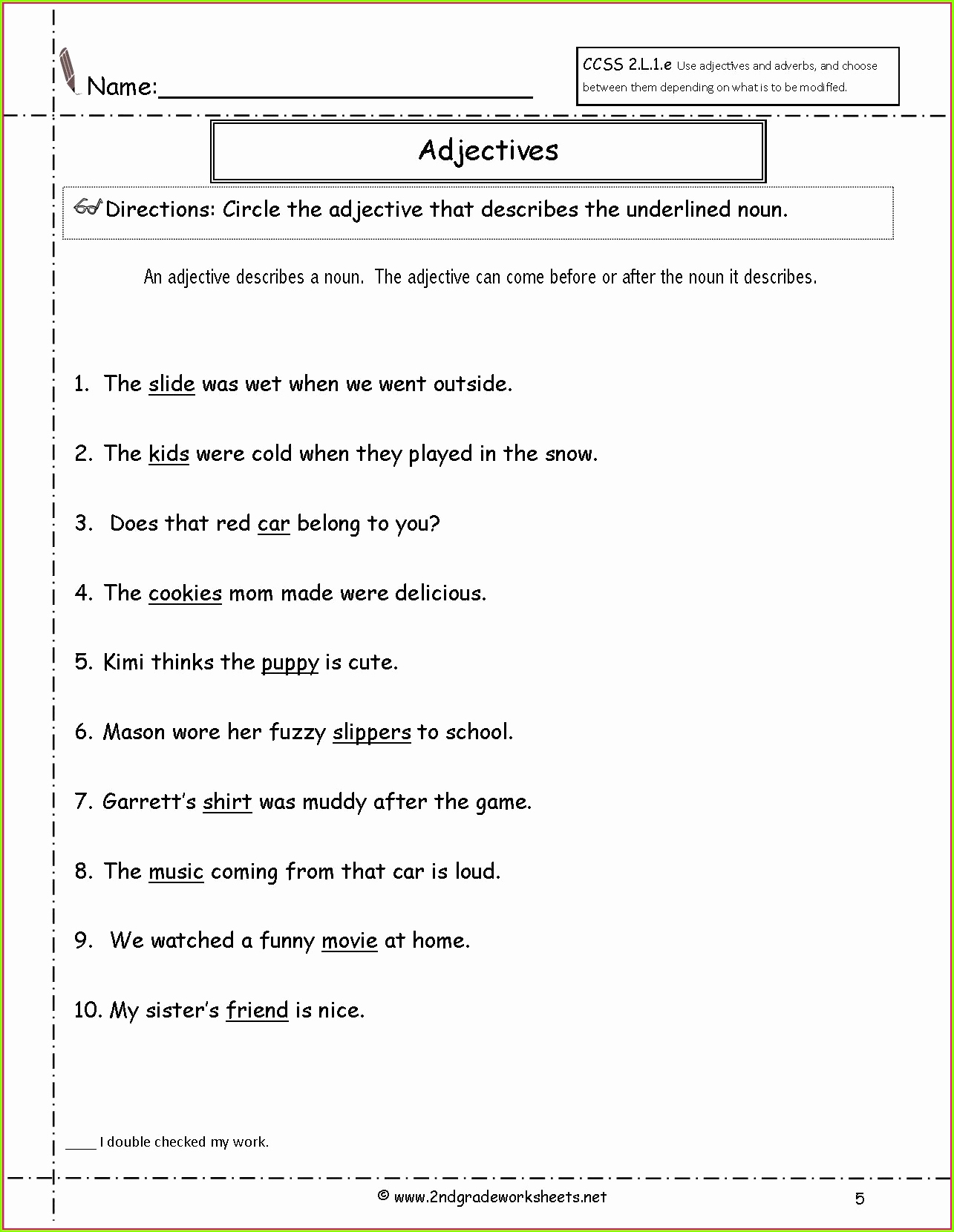 3rd Grade Adjectives Worksheets Luxury 3rd Grade Adjectives and Adverbs Worksheet Worksheet