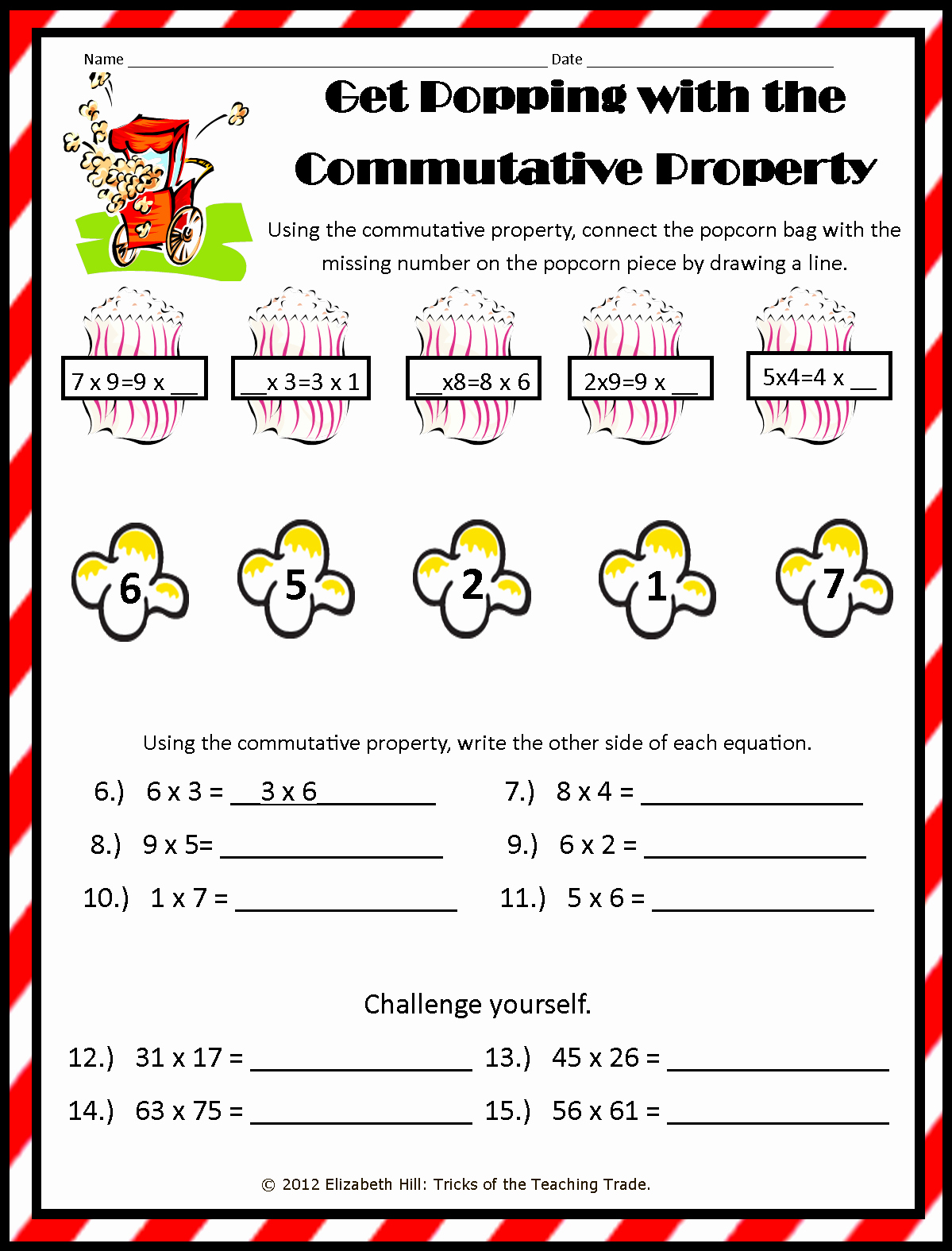 3rd Grade Distributive Property Worksheets Beautiful Mutative Property Addition Worksheets for 3rd Grade