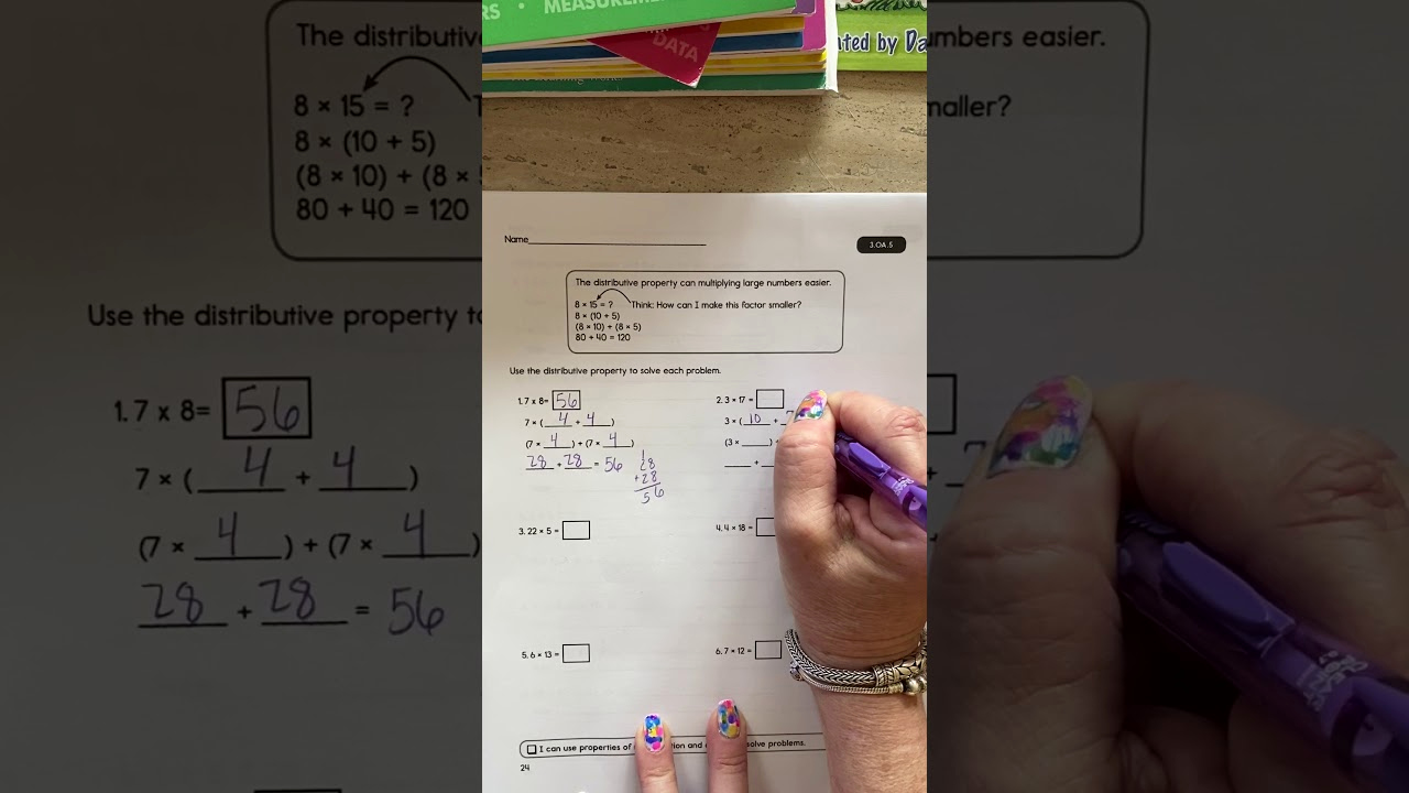 3rd Grade Distributive Property Worksheets Elegant 3rd Grade Distributive Property Worksheet
