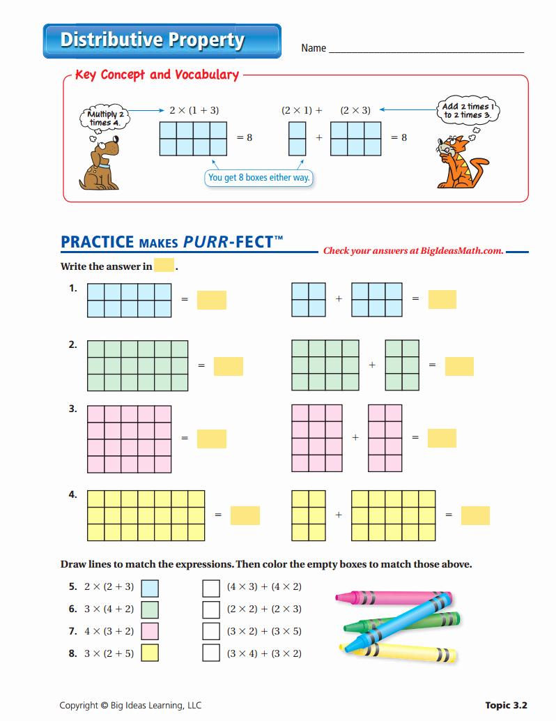 3rd Grade Distributive Property Worksheets Elegant Distributive Property Multiplication 3rd Grade Worksheets