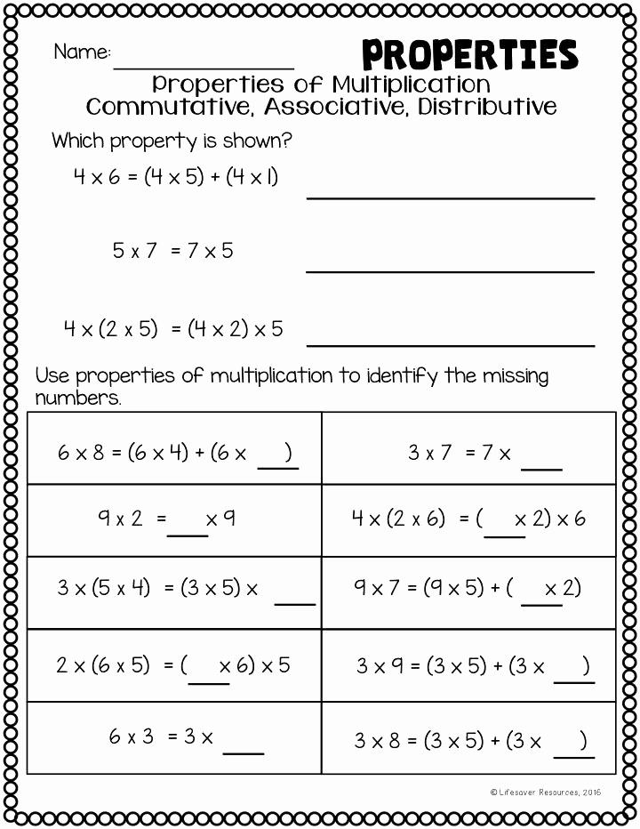 3rd Grade Distributive Property Worksheets Elegant Distributive Property Worksheets Grade 3