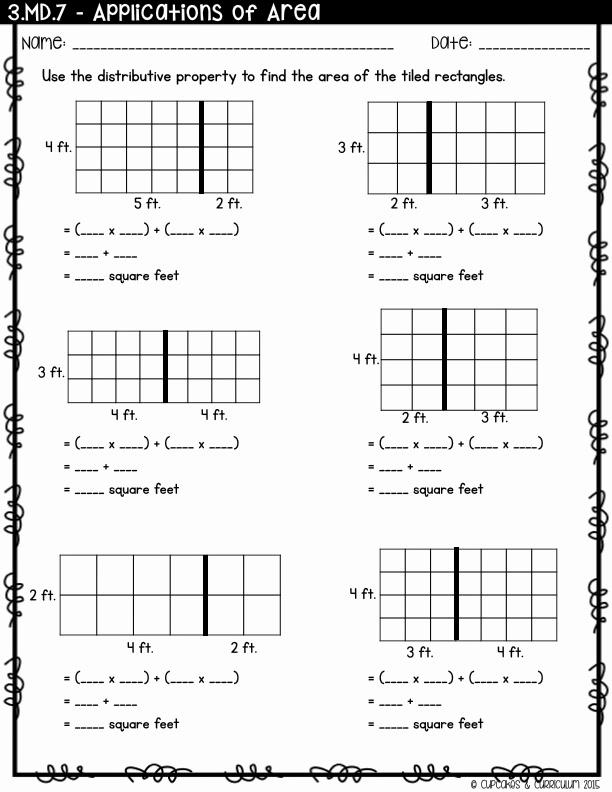 3rd Grade Distributive Property Worksheets Inspirational Cupcakes & Curriculum Teaching Distributive Property