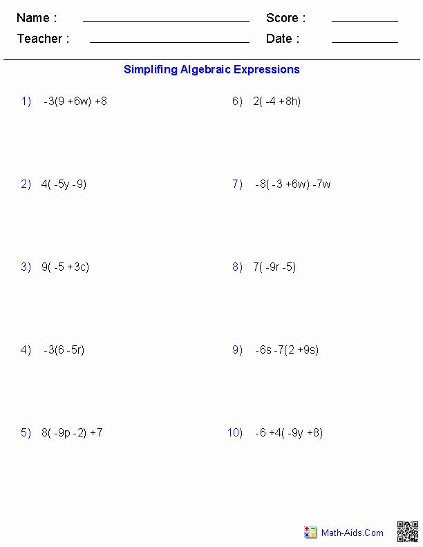 3rd Grade Distributive Property Worksheets Lovely Pre Algebra Worksheets