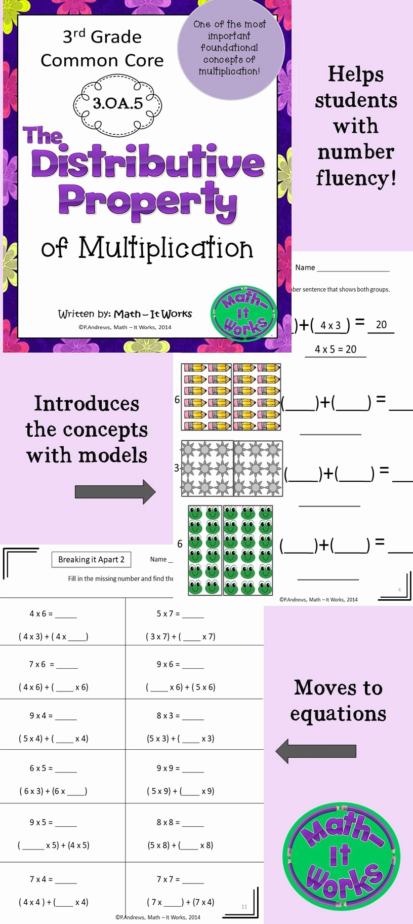 3rd Grade Distributive Property Worksheets Luxury 3rd Grade Distributive Property Worksheets