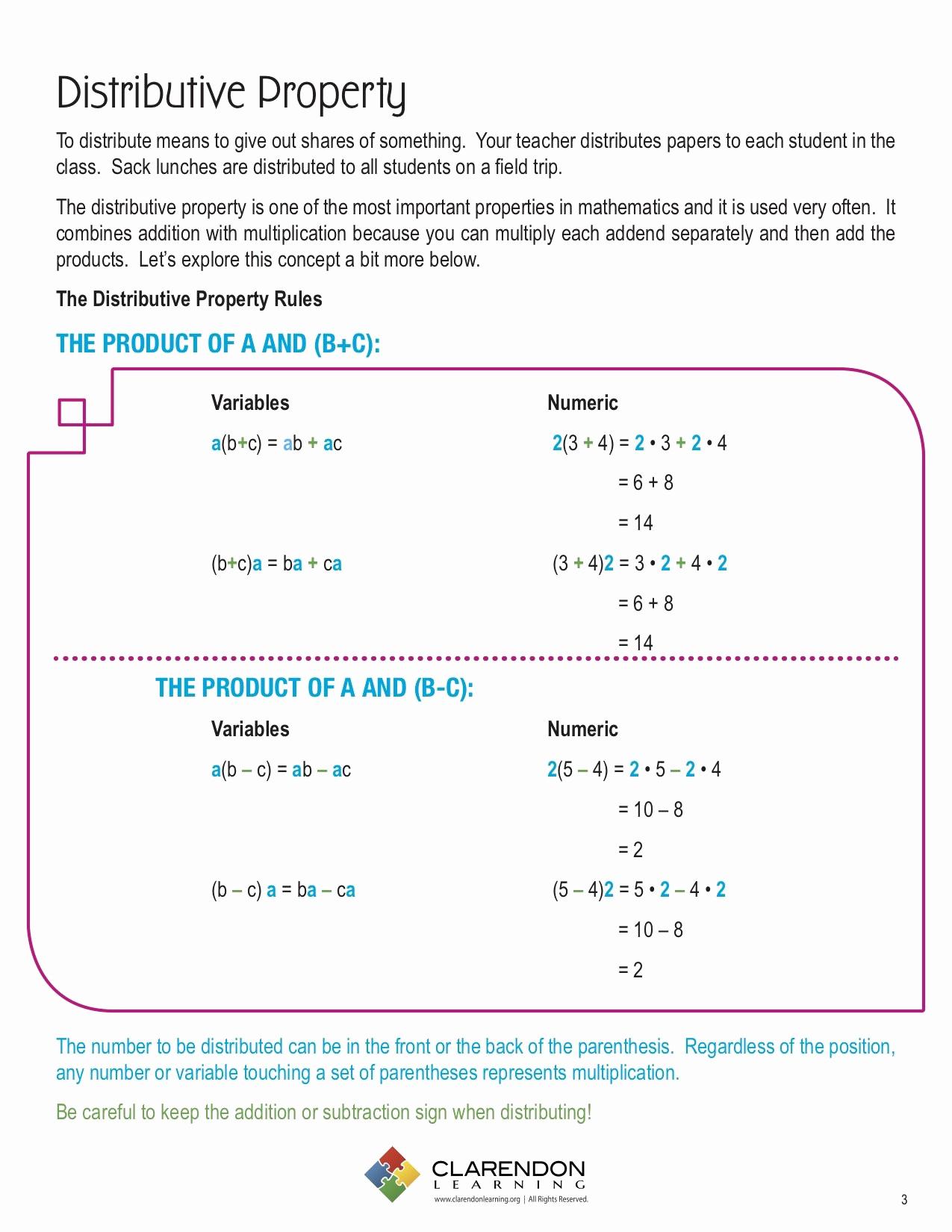 3rd Grade Distributive Property Worksheets New 20 Distributive Property 3rd Grade Worksheets