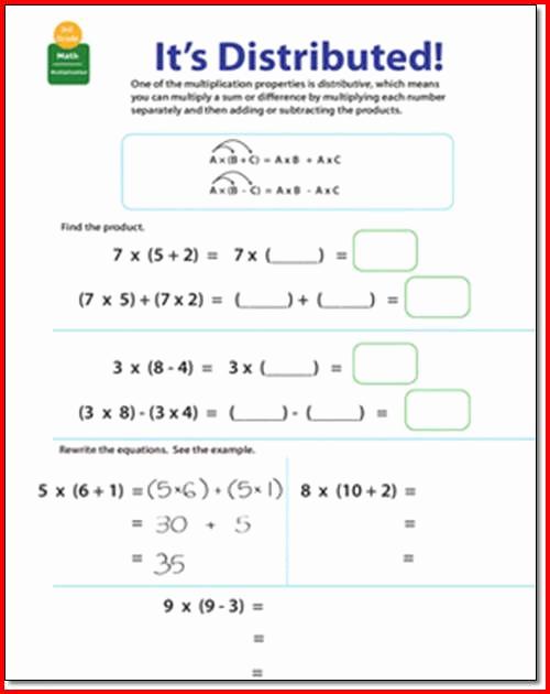 3rd Grade Distributive Property Worksheets Unique Distributive Property Multiplication 3rd Grade