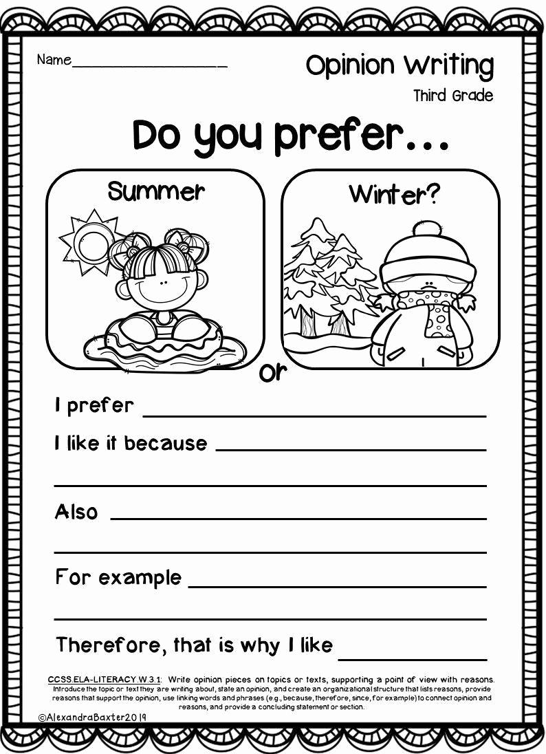 3rd Grade Essay Writing Worksheet Beautiful 3rd Grade Writing Worksheets In 2020
