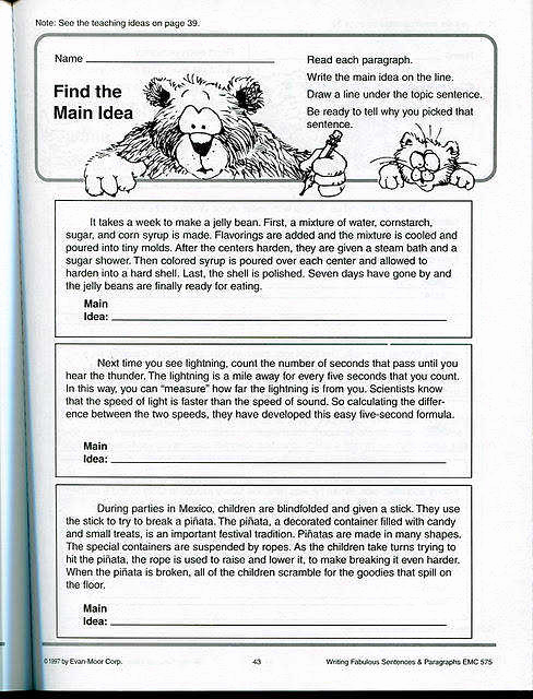 3rd Grade Main Idea Worksheets Fresh Main Idea Worksheets 3rd Grade