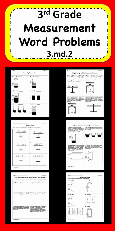 3rd Grade Measurement Worksheet Inspirational Measurement Word Problems for 3rd Grade Focusing On 3