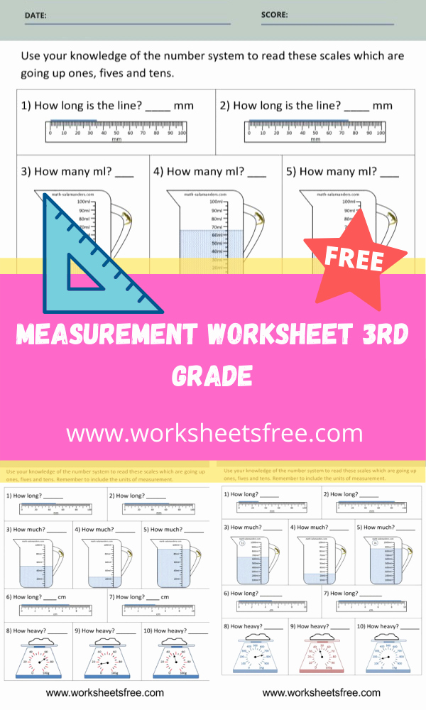 3rd Grade Measurement Worksheets Fresh Measurement Worksheet 3rd Grade