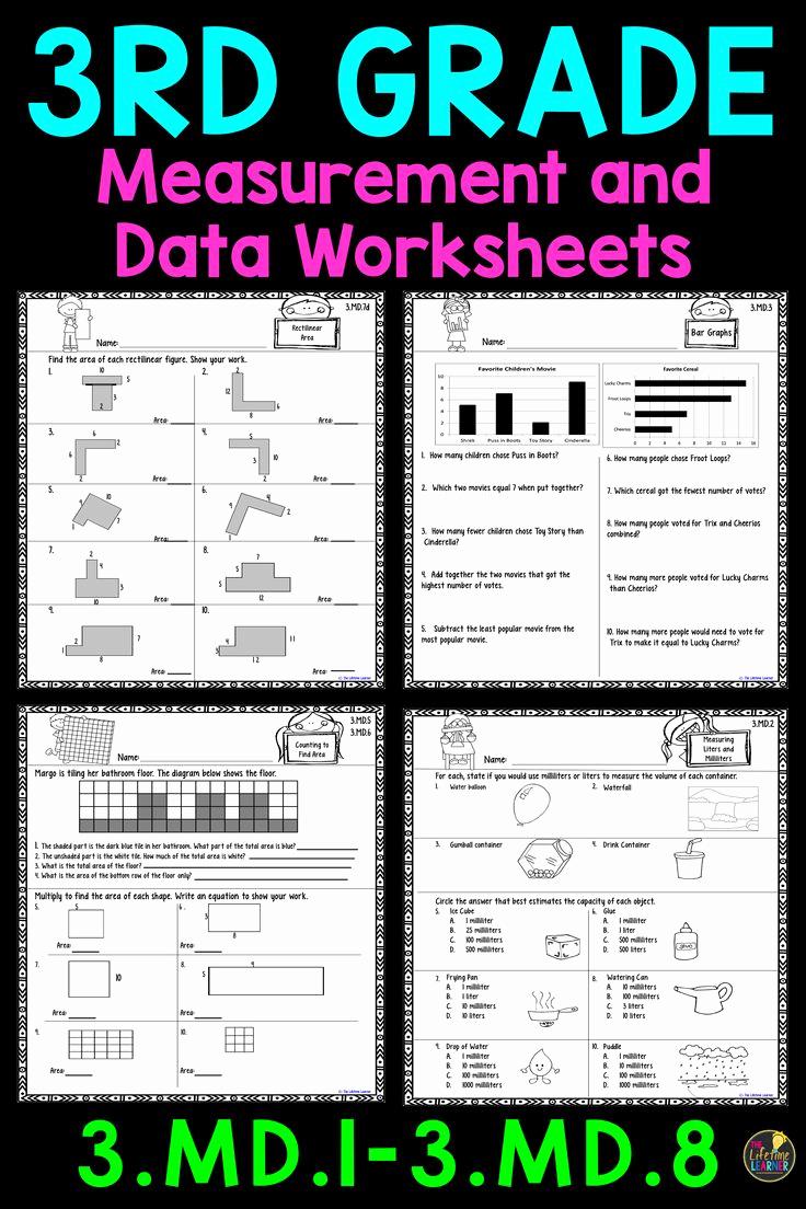 3rd Grade Measuring Worksheets New 3rd Grade Measurement and Data Worksheets
