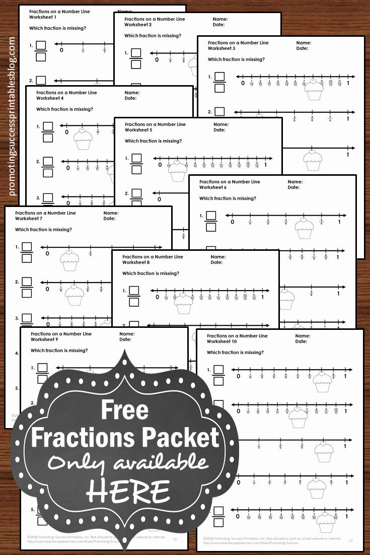 3rd Grade Number Line Worksheets Elegant Fractions A Number Line Worksheets 3rd Grade