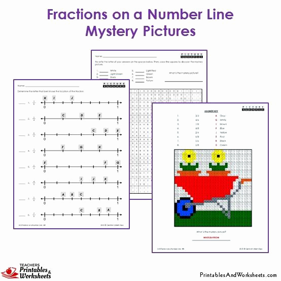 3rd Grade Number Line Worksheets Luxury 3rd Grade Fractions On A Number Line Mystery