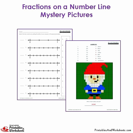 3rd Grade Number Line Worksheets New 3rd Grade Fractions On A Number Line Mystery