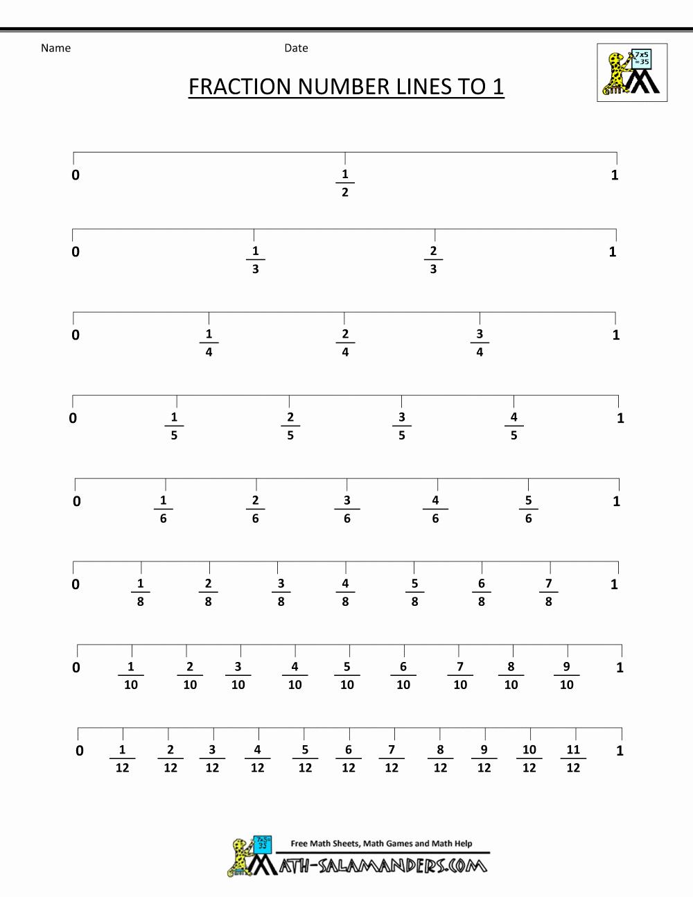 3rd Grade Number Line Worksheets Unique Free Fraction Number Line Worksheets 3rd Grade
