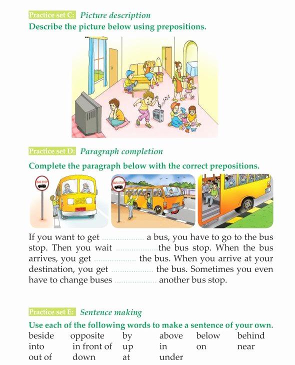 3rd Grade Preposition Worksheets Elegant Grammar 3rd Grade Grammar Prepositions Of Place