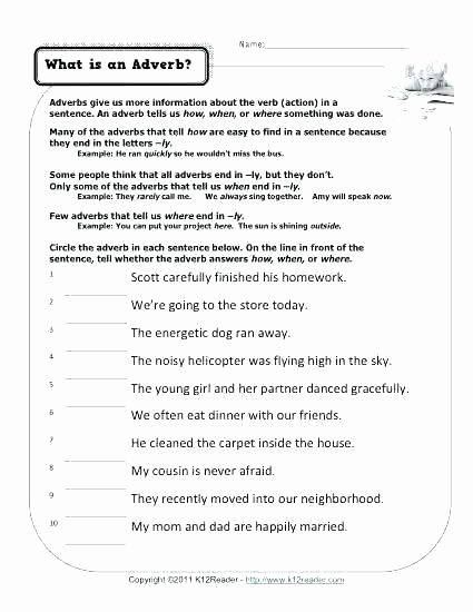 4th Grade Adverb Worksheets Beautiful 4th Grade Adverb Worksheets Adverb Worksheets 4th Grade In