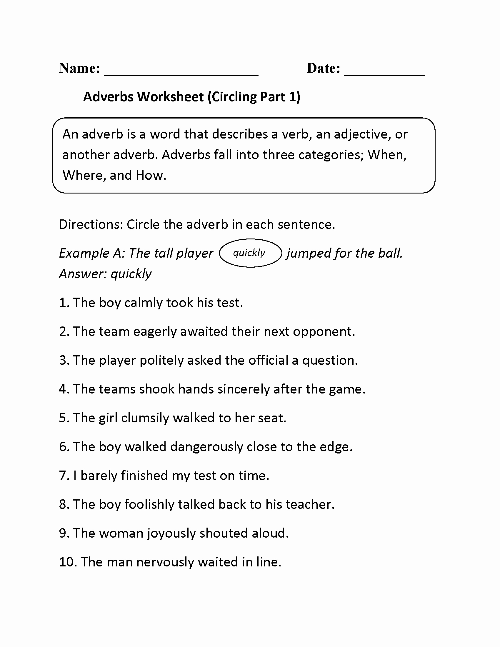 4th Grade Adverb Worksheets Beautiful 4th Grade Worksheets Best Coloring Pages for Kids