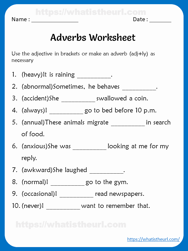 4th Grade Adverb Worksheets Fresh Adverbs Worksheets for 4th Grade Your Home Teacher