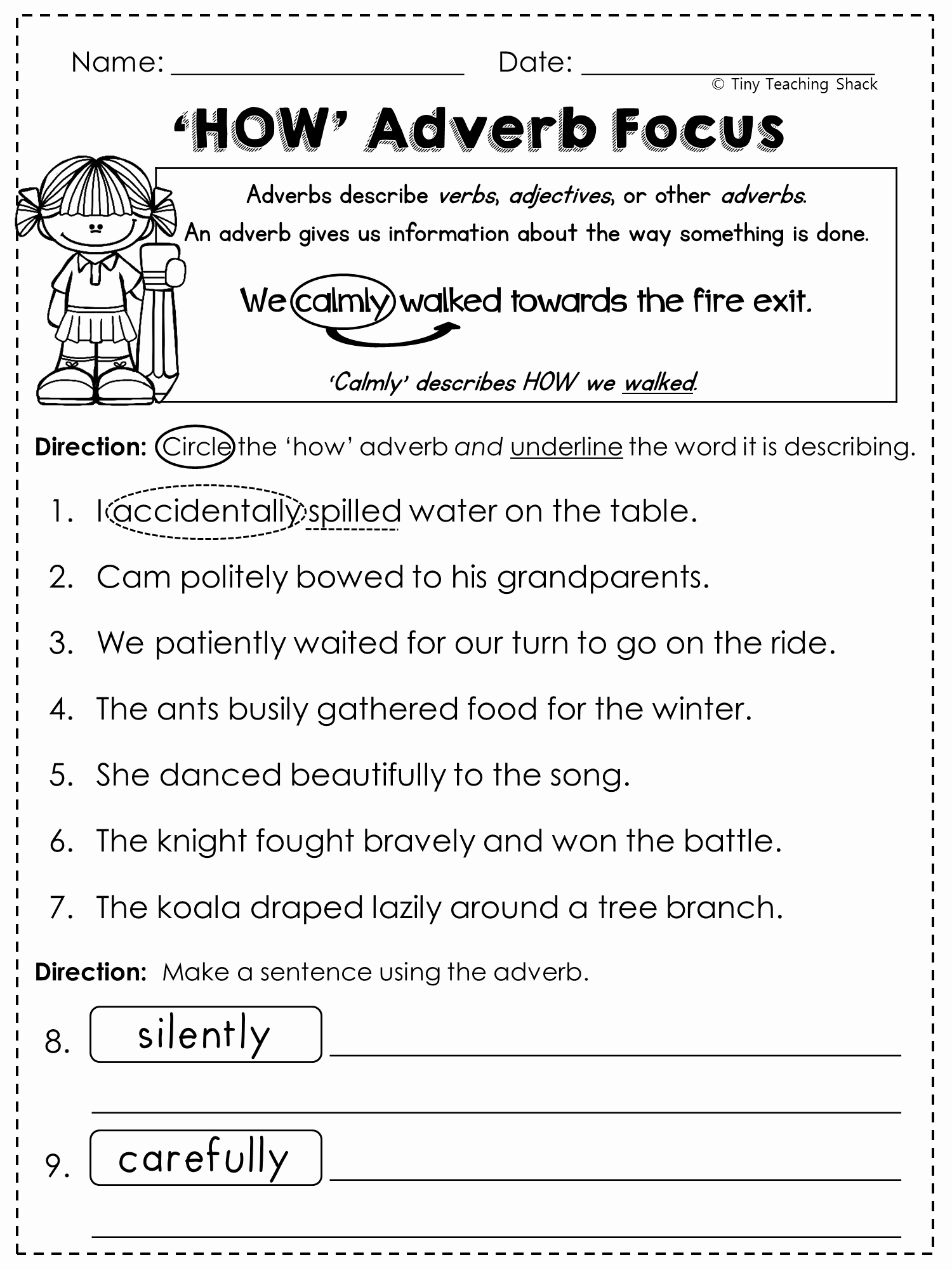 4th Grade Adverb Worksheets Lovely Adjectives Worksheet for High School