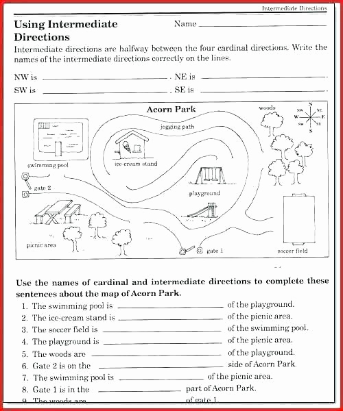 4th Grade Map Skills Worksheets Beautiful Pass Rose Worksheets Middle School Map Worksheets for