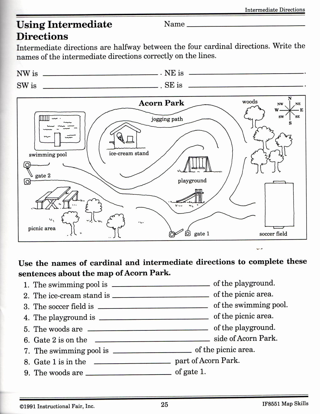4th Grade Map Skills Worksheets Best Of Map Skills Worksheets for Print Map Skills Worksheets