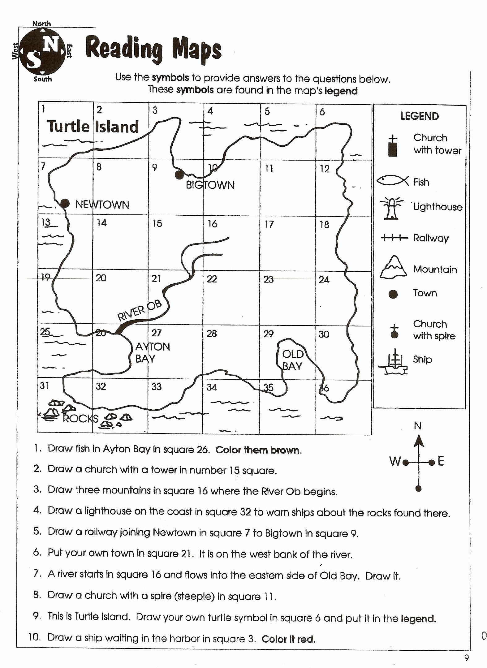 4th Grade Map Skills Worksheets Fresh 10 Inspirational Printable Map Skills Worksheets for 4th