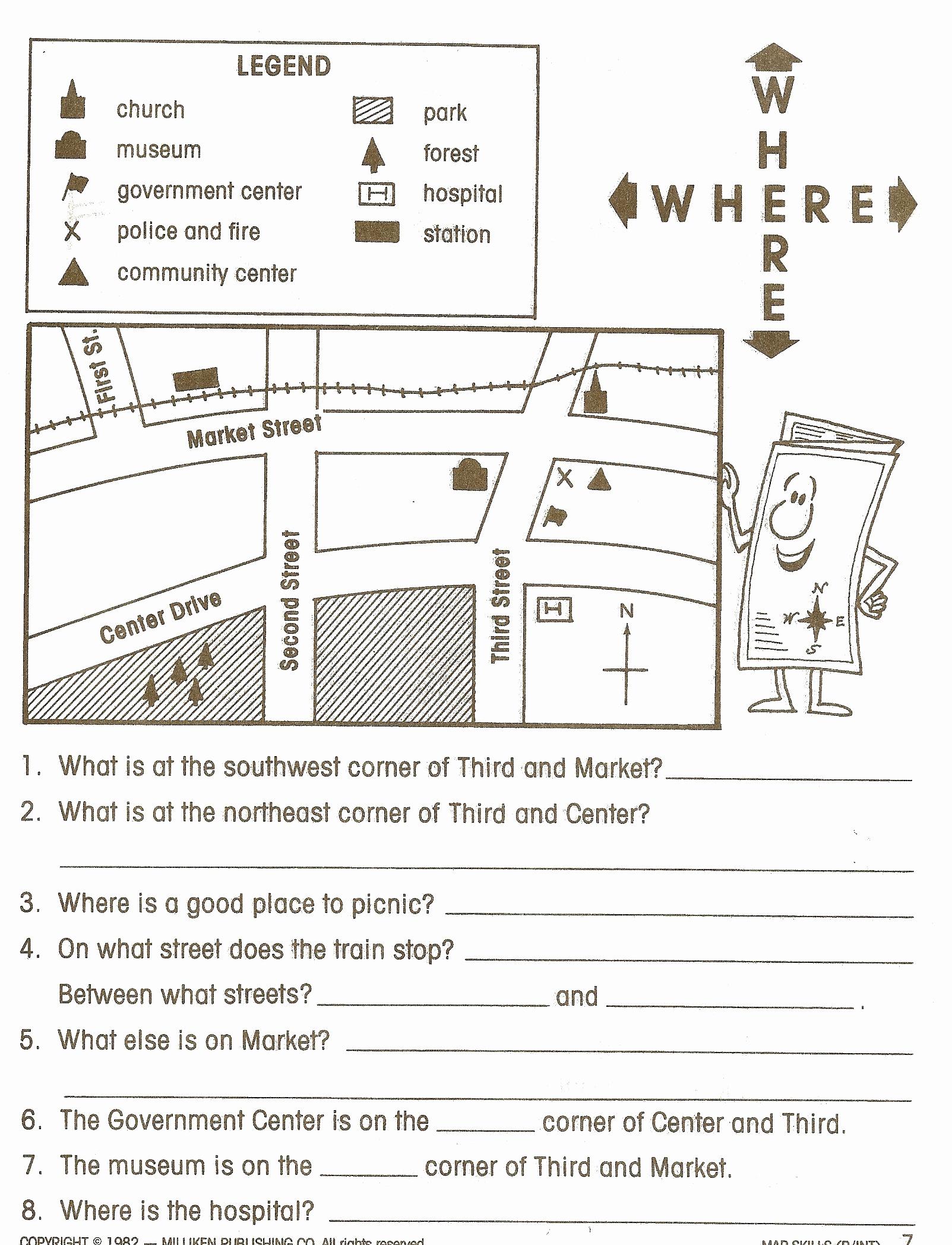 4th Grade Map Skills Worksheets Fresh social Stu S Worksheets Google Search