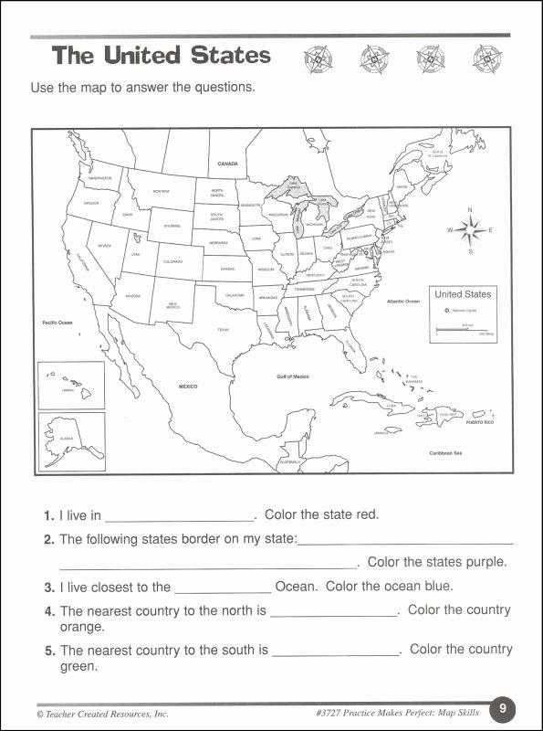 4th Grade Map Skills Worksheets Luxury 12 Best Of World Geography Map Skills Worksheet