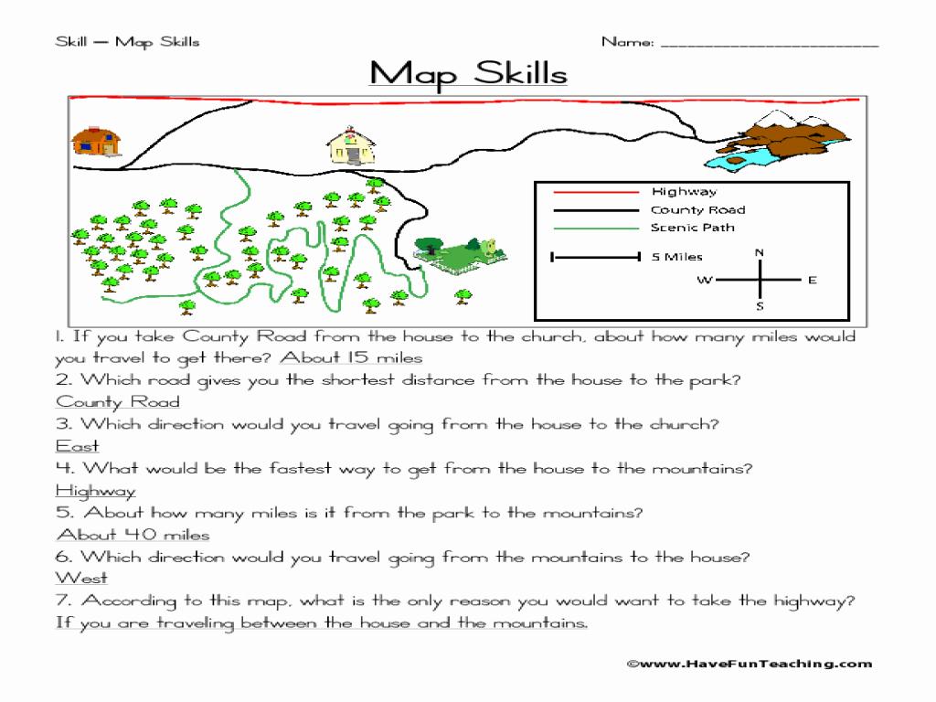 4th Grade Map Skills Worksheets New Worksheet social Stu S Worksheets 4th Grade Grass