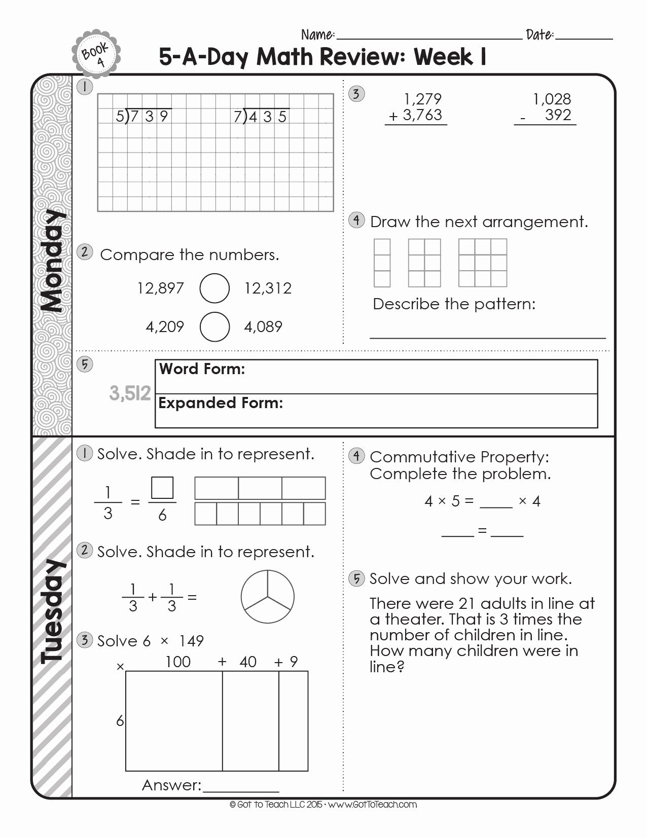 4th Grade Vocabulary Worksheets Pdf Elegant Free 4th Grade Daily Math Spiral Review • Teacher Thrive