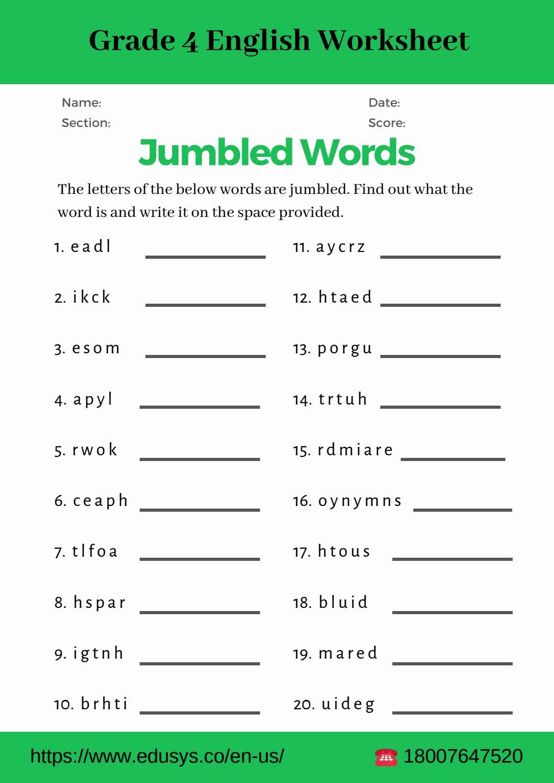 4th Grade Vocabulary Worksheets Pdf Fresh 4th Grade English Vocabulary Worksheet Pdf by Nithya issuu