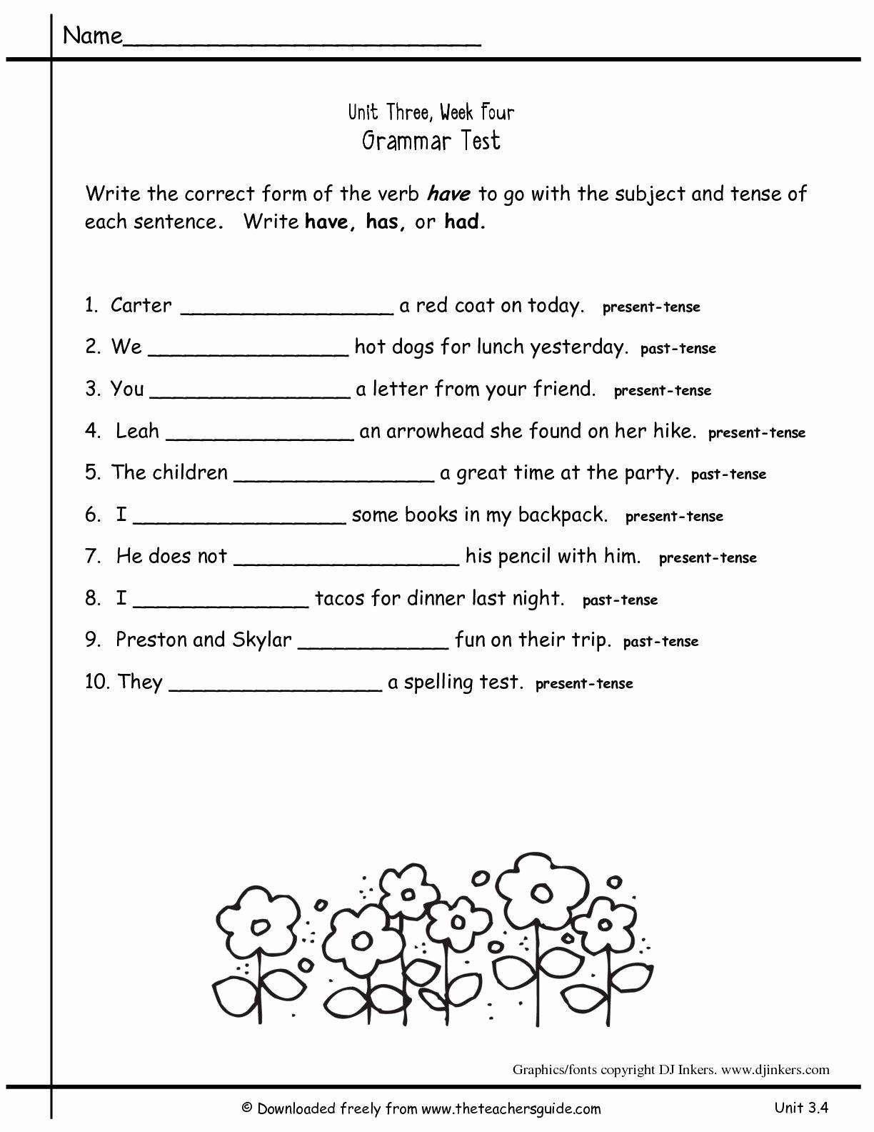 4th Grade Vocabulary Worksheets Pdf Luxury 4th Grade Grammar Worksheets Pdf