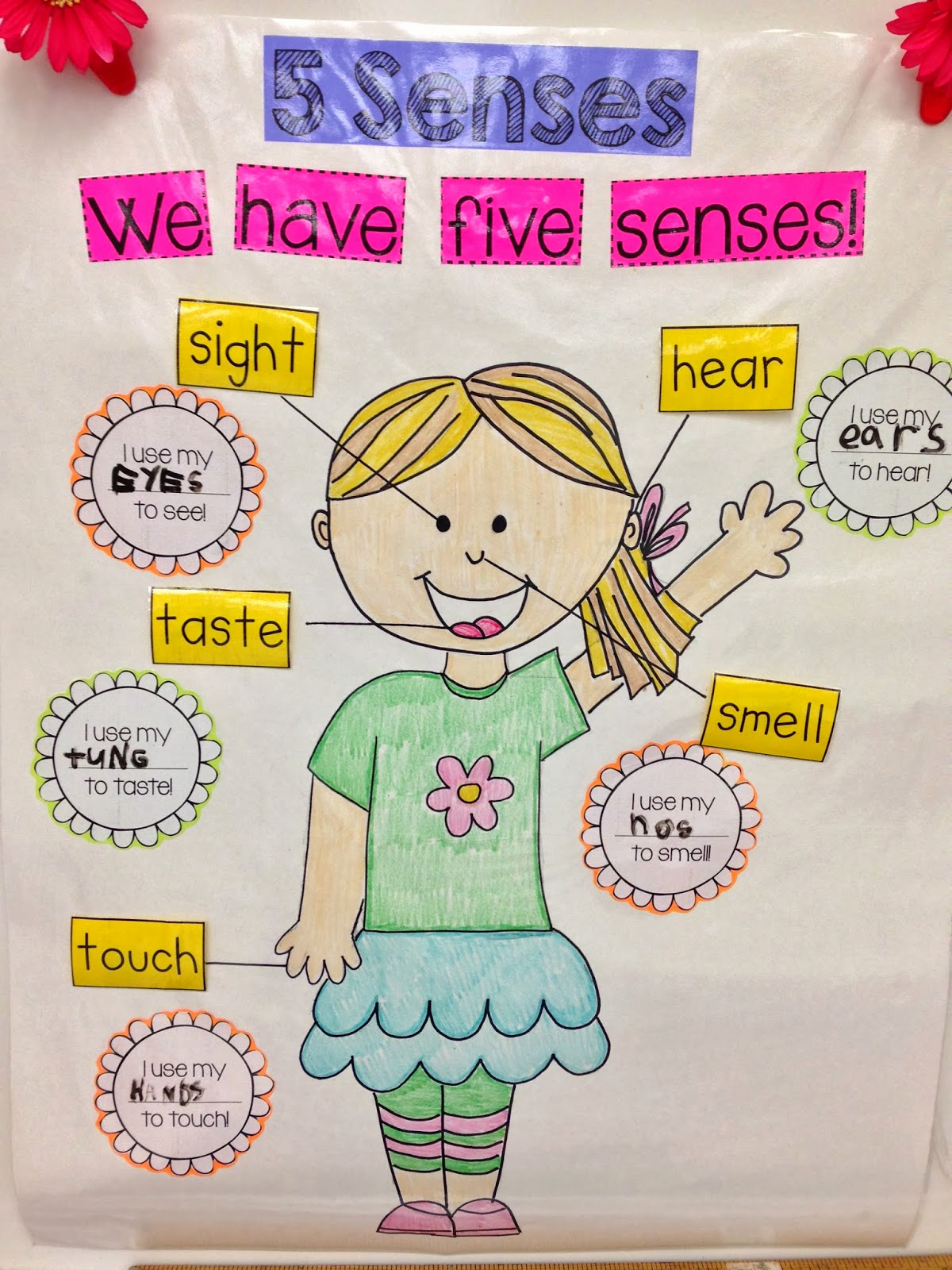 5 Senses Worksheets for Kindergarten New Kindergarten Smiles Five Senses