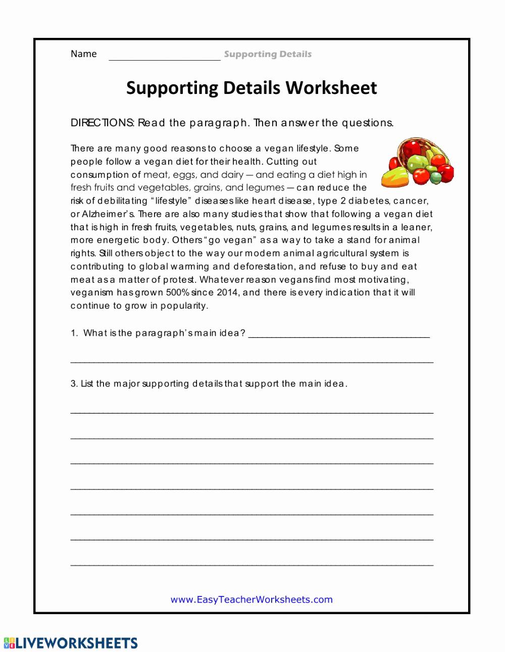 5th Grade Main Idea Worksheets Fresh 20 Main Idea Worksheet 5th Grade