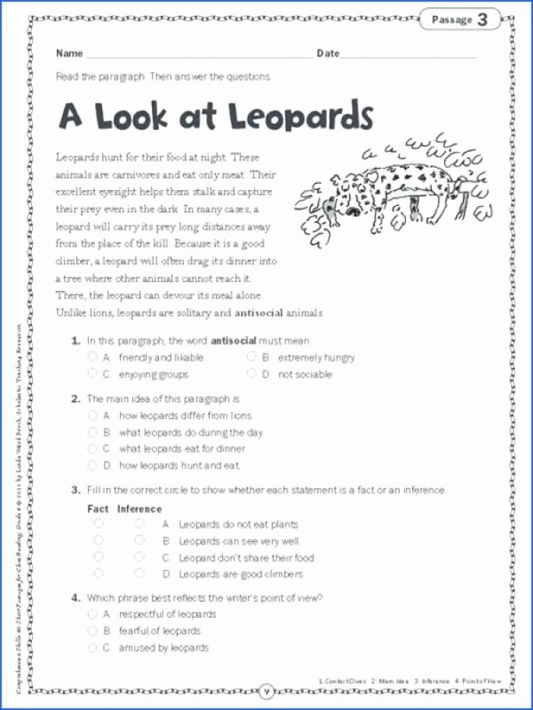 5th Grade Main Idea Worksheets Inspirational Pin On organized Printable Grade Worksheet