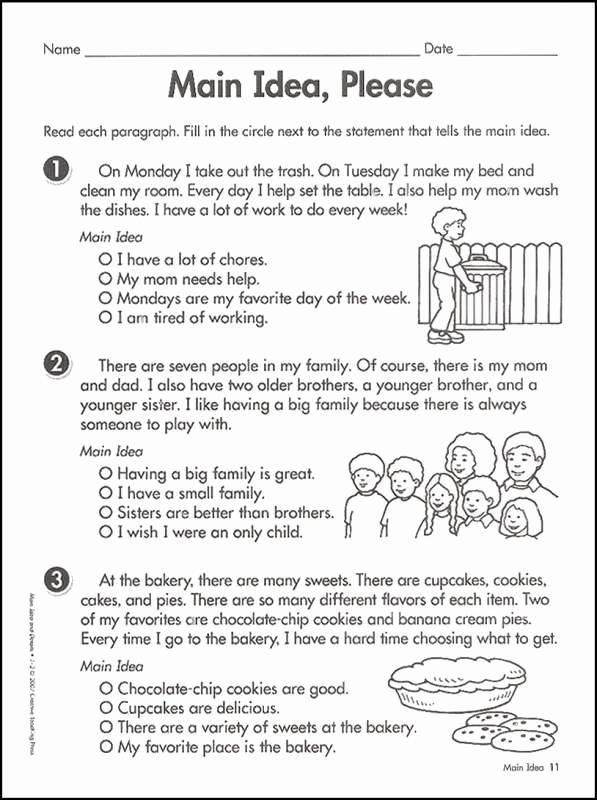 5th Grade Main Idea Worksheets New Free Printable Main Idea Worksheets 5th Grade