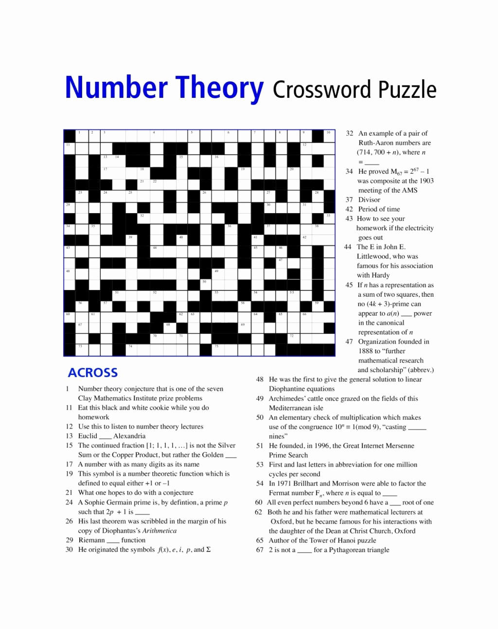 6th Grade Math Puzzle Worksheets Awesome Printable Math Puzzle 6th Grade
