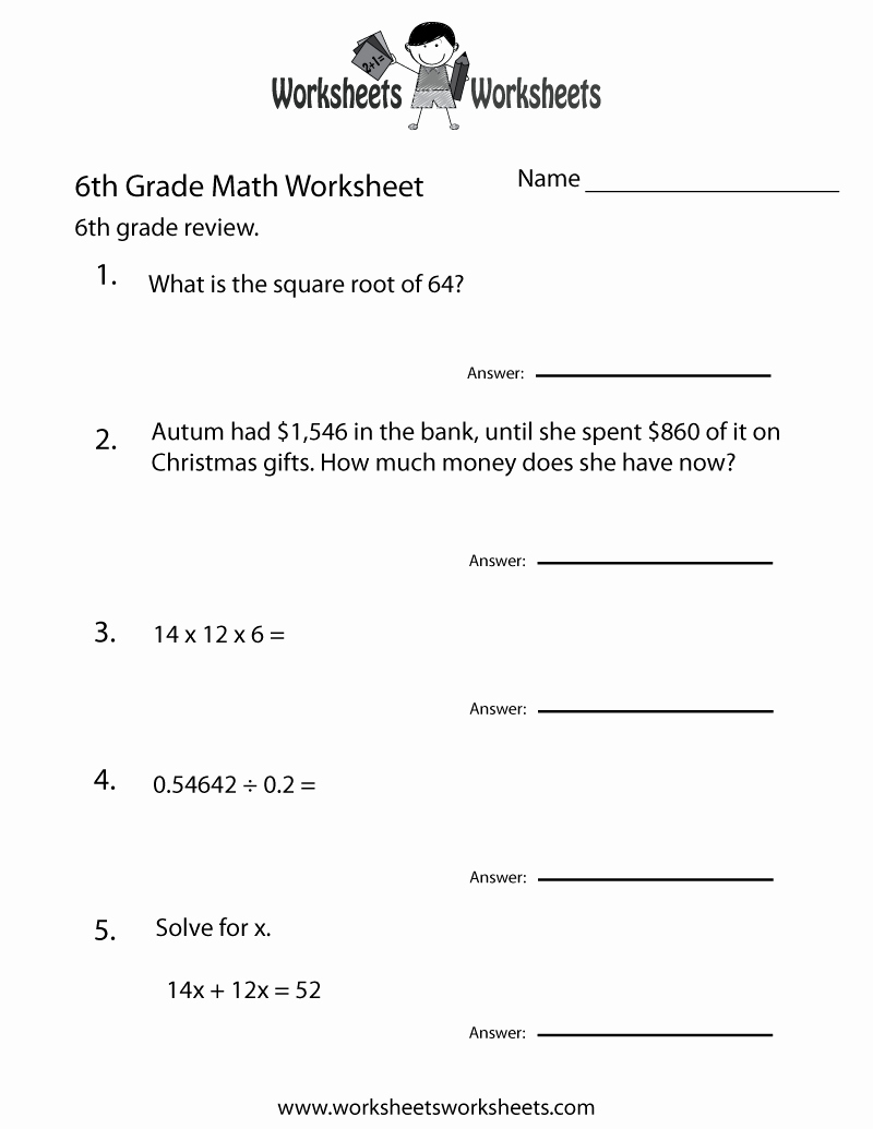 6th Grade Math Puzzle Worksheets Awesome Printable Puzzles for 6th Grade