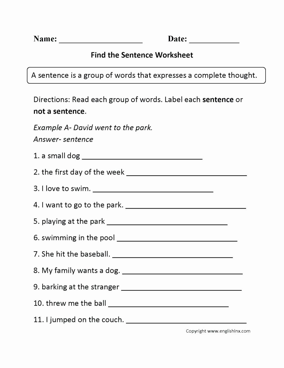 6th Grade Sentence Structure Worksheets Elegant 20 6th Grade Sentence Structure Worksheets