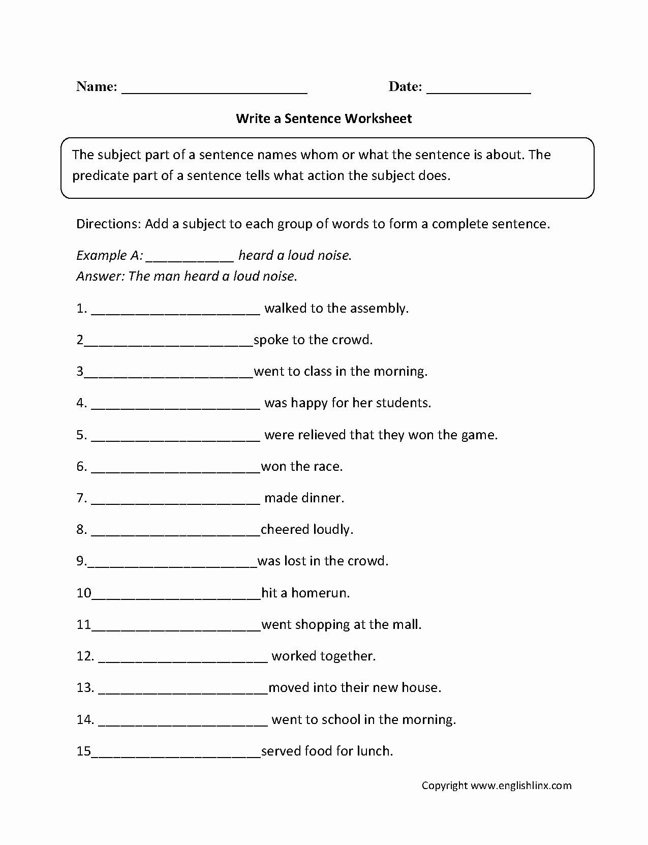 6th Grade Sentence Structure Worksheets Fresh Sentence Structure Worksheets
