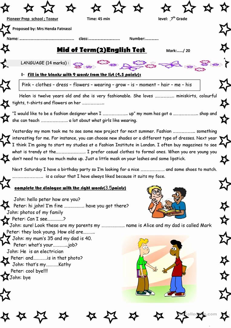 7th Grade Language Arts Worksheets New 7th Grade English Language Arts Worksheets Download