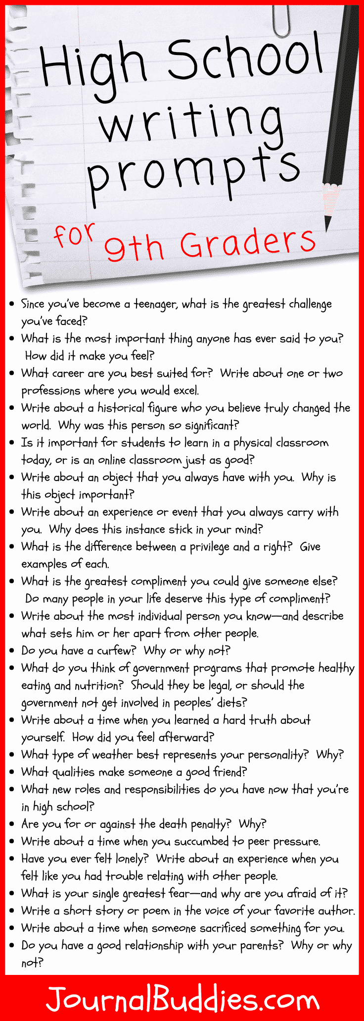 9th Grade Writing Worksheets Awesome 31 High School Writing Prompts for 9th Graders