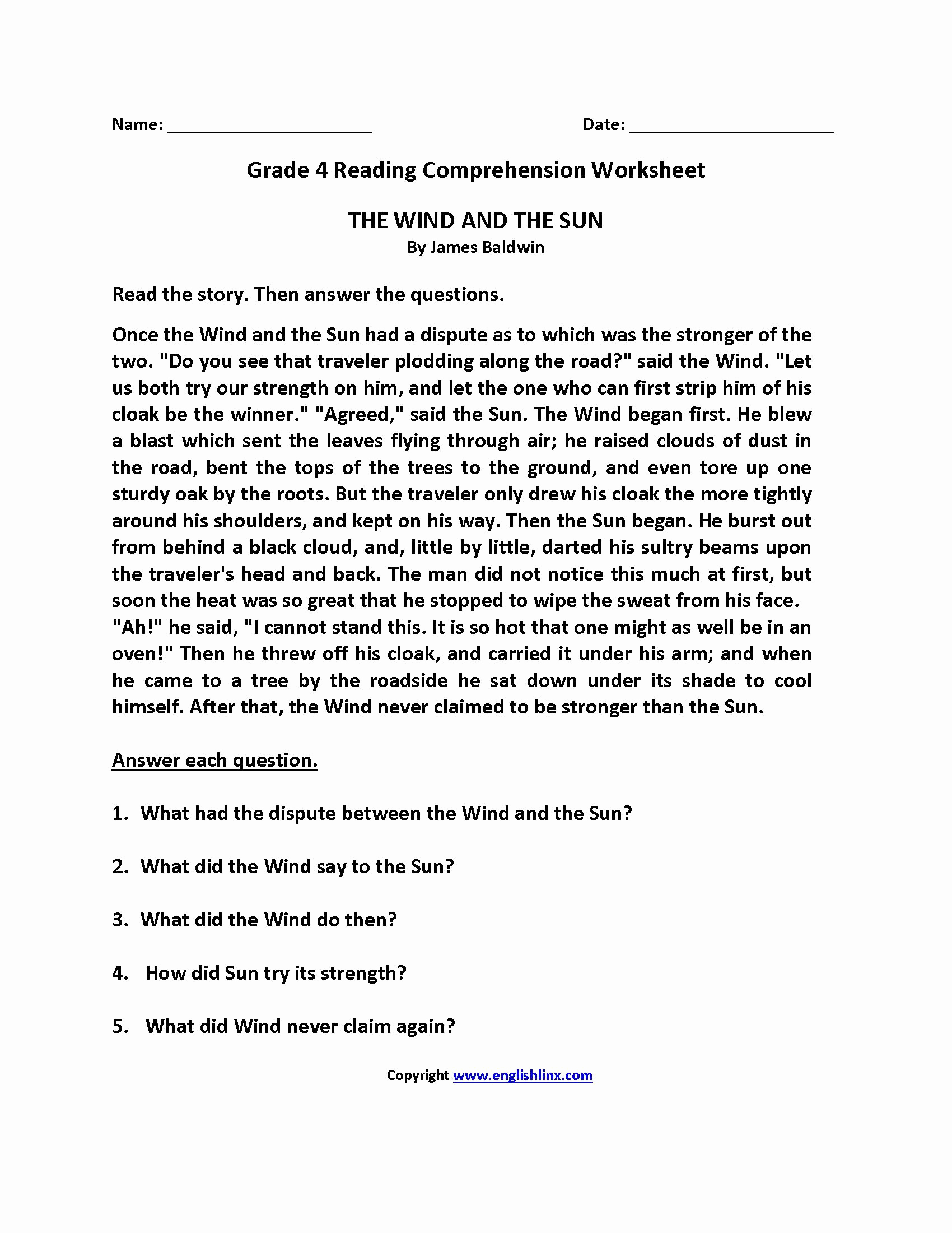 9th Grade Writing Worksheets Beautiful 9th Grade Reading Prehension Worksheets