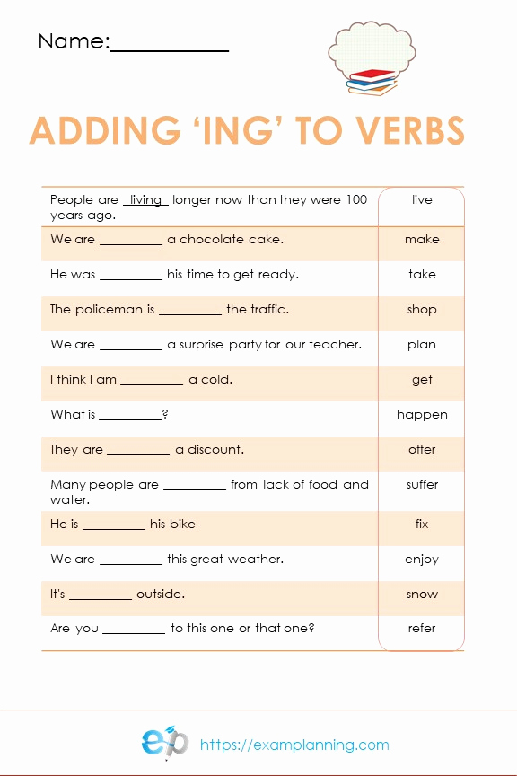 Adding Ed and Ing Worksheets Awesome Spelling Rule Ing Examplanning