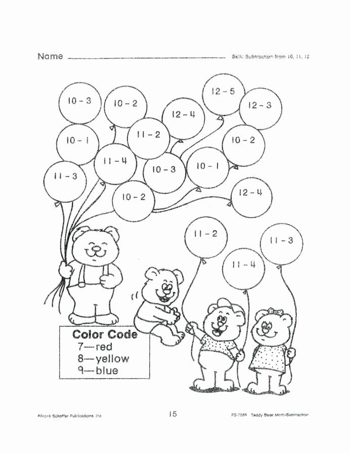Addition Coloring Worksheets for Kindergarten Elegant Kindergarten – 2nd Grade Addition Worksheets