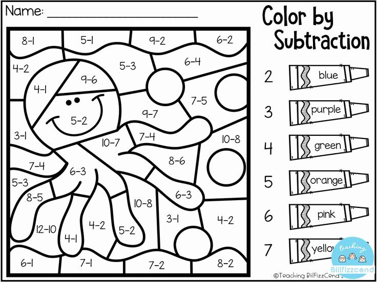 Addition Coloring Worksheets for Kindergarten Lovely Free Addition Coloring Worksheets for Kindergarten In 2020